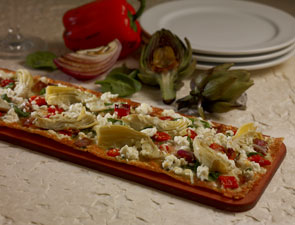 artichoke-flatbread