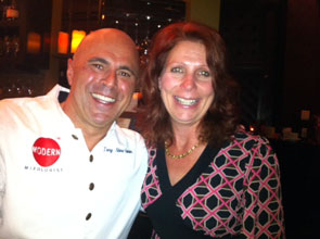 Tony Abou-Ganim and Elaine Harris