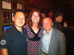 Jet Tila with Elaine and Scott Harris