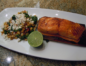 Cedar Plank Salmon & Corn Succotash - Roasted on a cedar plank in our ...